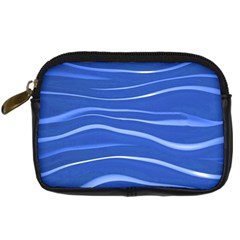 Lines Swinging Texture  Blue Background Digital Camera Cases by Amaryn4rt