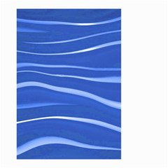 Lines Swinging Texture  Blue Background Small Garden Flag (two Sides) by Amaryn4rt