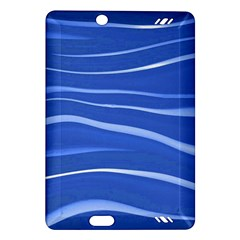 Lines Swinging Texture  Blue Background Amazon Kindle Fire Hd (2013) Hardshell Case by Amaryn4rt