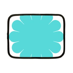 Turquoise Flower Blue Netbook Case (small)  by Alisyart
