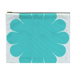 Turquoise Flower Blue Cosmetic Bag (xl) by Alisyart
