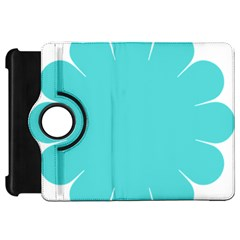 Turquoise Flower Blue Kindle Fire Hd 7  by Alisyart