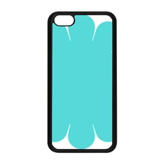 Turquoise Flower Blue Apple Iphone 5c Seamless Case (black) by Alisyart