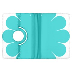 Turquoise Flower Blue Kindle Fire Hdx Flip 360 Case by Alisyart