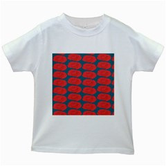 Rose Repeat Red Blue Beauty Sweet Kids White T Shirts by Alisyart