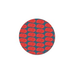 Rose Repeat Red Blue Beauty Sweet Golf Ball Marker by Alisyart