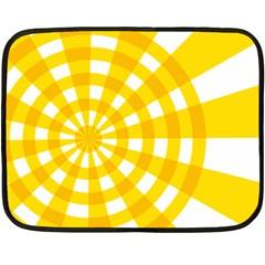 Weaving Hole Yellow Circle Fleece Blanket (mini) by Alisyart
