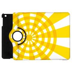 Weaving Hole Yellow Circle Apple Ipad Mini Flip 360 Case by Alisyart
