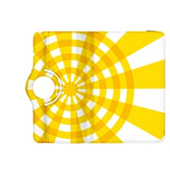 Weaving Hole Yellow Circle Kindle Fire Hdx 8 9  Flip 360 Case by Alisyart