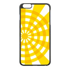 Weaving Hole Yellow Circle Apple Iphone 6 Plus/6s Plus Black Enamel Case by Alisyart