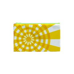 Weaving Hole Yellow Circle Cosmetic Bag (xs) by Alisyart