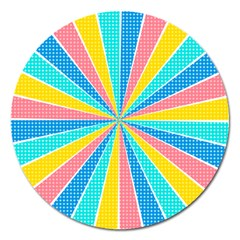 Rhythm Heaven Megamix Circle Star Rainbow Color Magnet 5  (round) by Alisyart