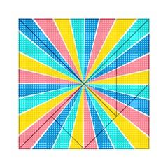 Rhythm Heaven Megamix Circle Star Rainbow Color Acrylic Tangram Puzzle (6  X 6 ) by Alisyart