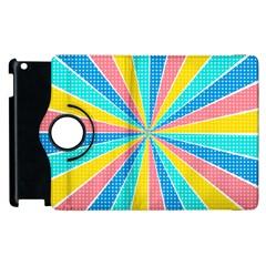 Rhythm Heaven Megamix Circle Star Rainbow Color Apple Ipad 3/4 Flip 360 Case by Alisyart
