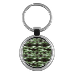 Stripes Camo Pattern Print Key Chains (round)  by dflcprints