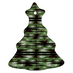 Stripes Camo Pattern Print Ornament (christmas Tree)  by dflcprints