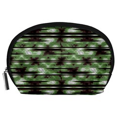 Stripes Camo Pattern Print Accessory Pouches (large)  by dflcprints