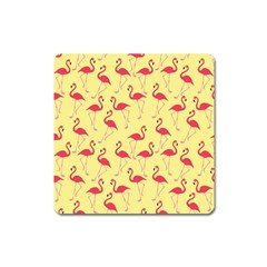 Flamingo Pattern Square Magnet by Valentinaart