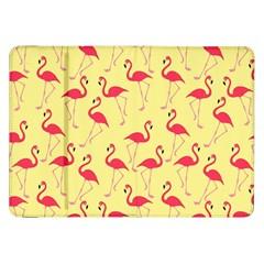 Flamingo Pattern Samsung Galaxy Tab 8 9  P7300 Flip Case by Valentinaart