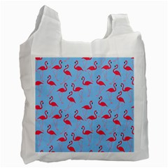 Flamingo Pattern Recycle Bag (one Side) by Valentinaart