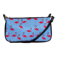 Flamingo Pattern Shoulder Clutch Bags by Valentinaart