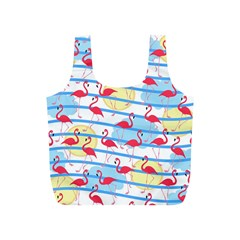 Flamingo Pattern Full Print Recycle Bags (s)  by Valentinaart