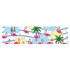 Flamingo Pattern Satin Scarf (oblong) by Valentinaart