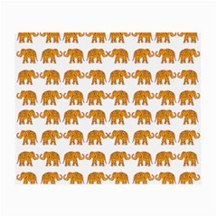 Indian Elephant  Small Glasses Cloth by Valentinaart