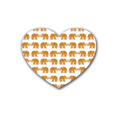 Indian Elephant  Rubber Coaster (heart)  by Valentinaart