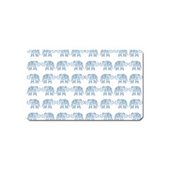 Indian Elephant  Magnet (name Card) by Valentinaart