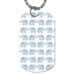 Indian Elephant  Dog Tag (two Sides) by Valentinaart
