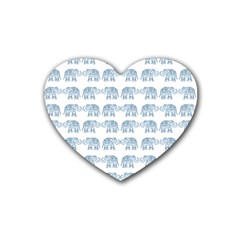 Indian Elephant  Heart Coaster (4 Pack)  by Valentinaart