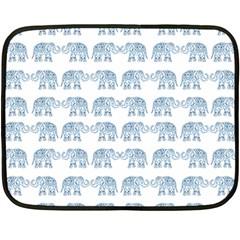Indian Elephant  Double Sided Fleece Blanket (mini)  by Valentinaart