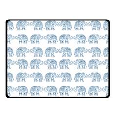 Indian Elephant  Fleece Blanket (small) by Valentinaart