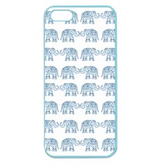 Indian Elephant  Apple Seamless Iphone 5 Case (color) by Valentinaart