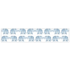 Indian Elephant  Flano Scarf (small) by Valentinaart