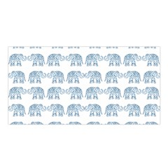 Indian Elephant  Satin Shawl by Valentinaart