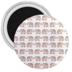 Indian Elephant 3  Magnets by Valentinaart