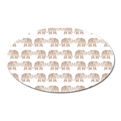 Indian Elephant Oval Magnet by Valentinaart