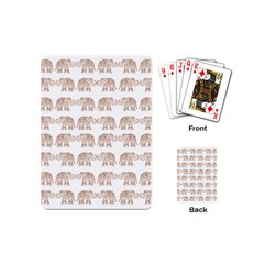 Indian Elephant Playing Cards (mini)  by Valentinaart