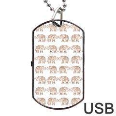 Indian Elephant Dog Tag Usb Flash (two Sides) by Valentinaart