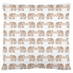 Indian Elephant Standard Flano Cushion Case (one Side) by Valentinaart