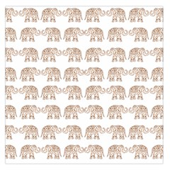Indian Elephant Large Satin Scarf (square) by Valentinaart