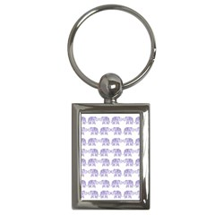 Indian Elephant Pattern Key Chains (rectangle)  by Valentinaart