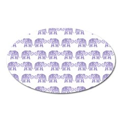 Indian Elephant Pattern Oval Magnet by Valentinaart