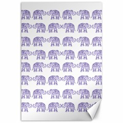 Indian Elephant Pattern Canvas 12  X 18   by Valentinaart