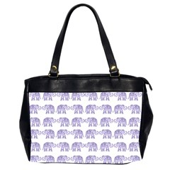 Indian Elephant Pattern Office Handbags (2 Sides)  by Valentinaart