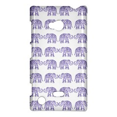 Indian Elephant Pattern Nokia Lumia 720 by Valentinaart