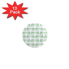 Indian Elephant Pattern 1  Mini Magnet (10 Pack)  by Valentinaart
