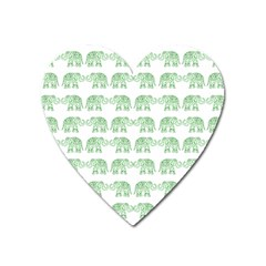 Indian Elephant Pattern Heart Magnet by Valentinaart